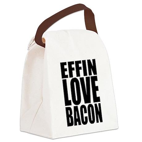 EFFIN LOVE BACON Canvas Lunch Bag