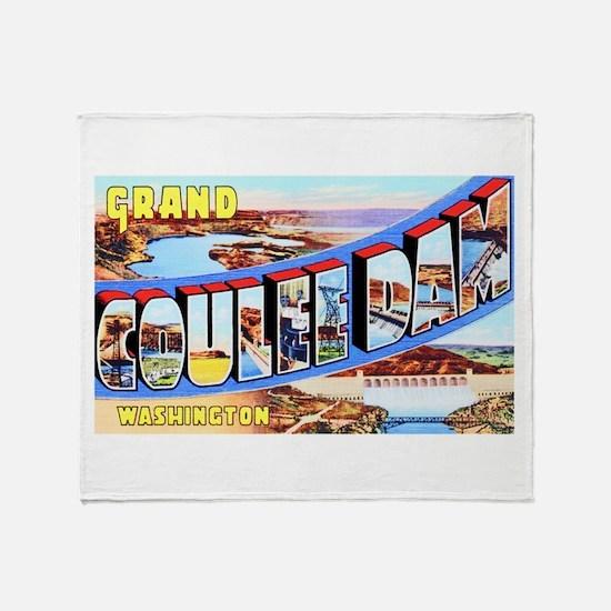Grand Coulee Dam Washington Throw Blanket