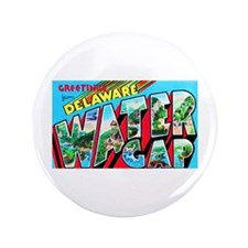 "Delaware Water Gap Greetings 3.5"" Button"
