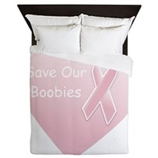 Save Our Boobies Queen Duvet