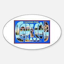 Cape Cod Massachusetts Sticker (Oval)