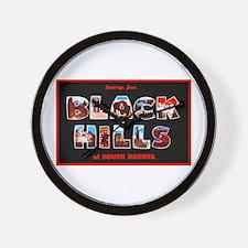 Black Hills South Dakota Wall Clock