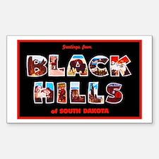 Black Hills South Dakota Sticker (Rectangle)