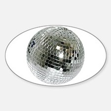 Spazzoid Disco Ball Sticker (oval)