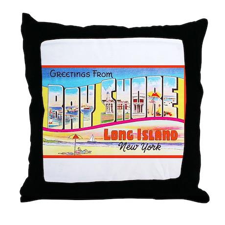 Bay Shore Long Island Throw Pillow