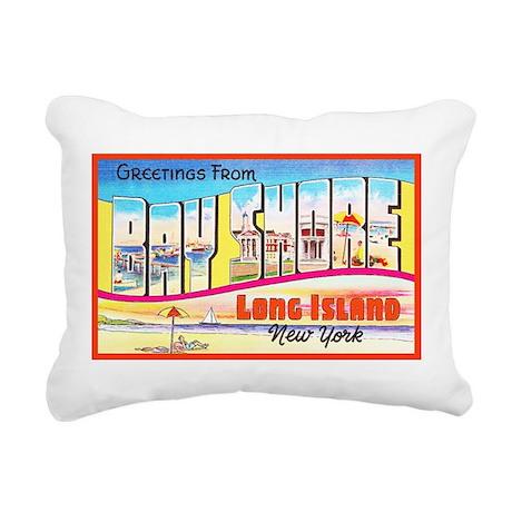 Bay Shore Long Island Rectangular Canvas Pillow
