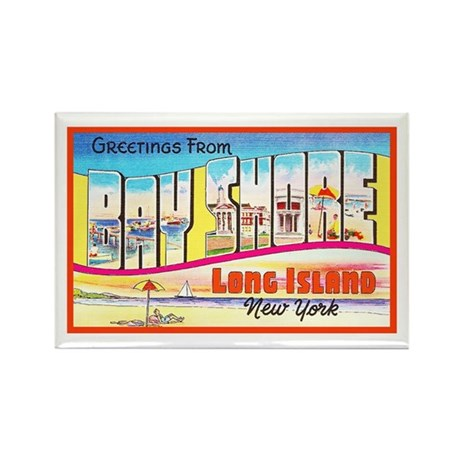 Bay Shore Long Island Rectangle Magnet (10 pack)