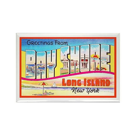 Bay Shore Long Island Rectangle Magnet (100 pack)