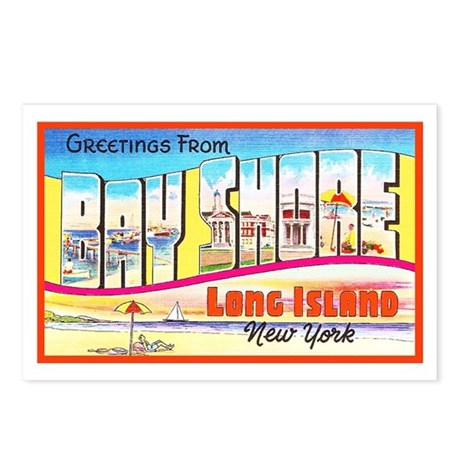 Bay Shore Long Island Postcards (Package of 8)