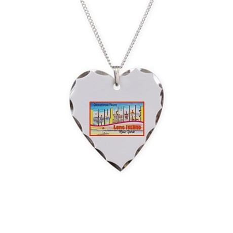 Bay Shore Long Island Necklace Heart Charm