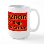 50,000+ Dogs Killed In China Large Mug
