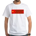 50,000+ Dogs Killed In China White T-Shirt