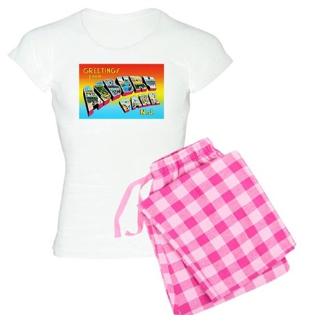 Asbury Park New Jersey Women's Light Pajamas