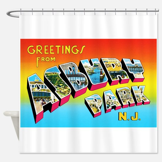 Asbury Park New Jersey Shower Curtain