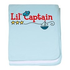 Lil Captain baby blanket