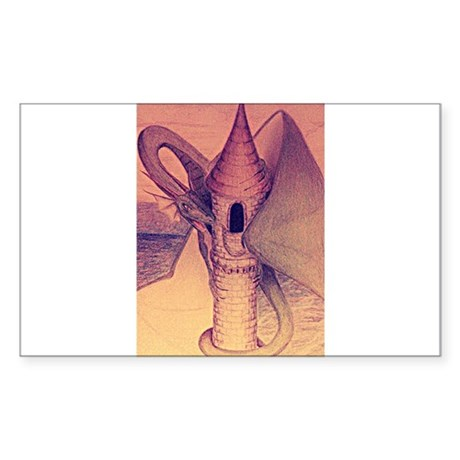 Dragon Perch Sticker (Rectangle)