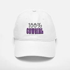 100% Cowgirl Baseball Baseball Cap