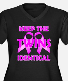 Keep the Twins Identical Women's Plus Size V-Neck