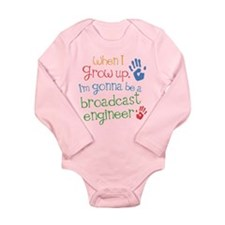 Future Broadcast Engineer Long Sleeve Infant Bodys
