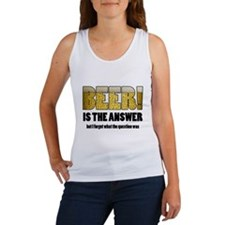 Beer Is the Answer Women's Tank Top
