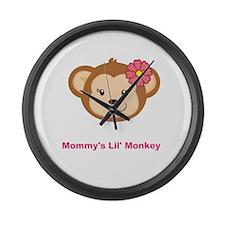 Lil Monkey Large Wall Clock
