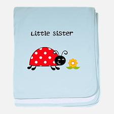 Lady Bug Little Sister baby blanket
