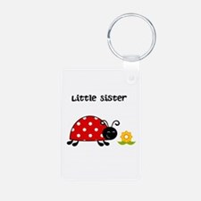 Lady Bug Little Sister Keychains