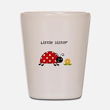 Lady Bug Little Sister Shot Glass