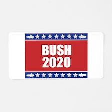 Bush 2020 Aluminum License Plate