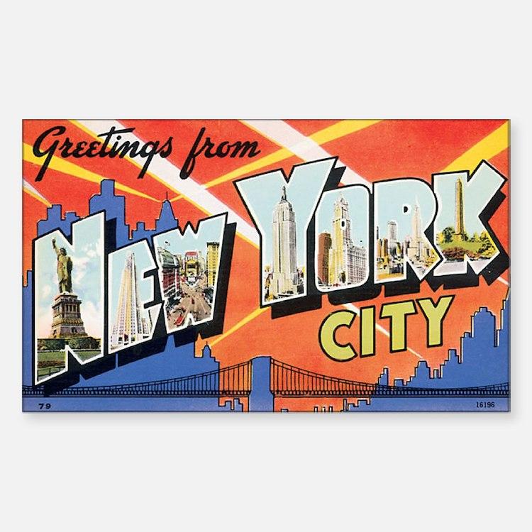 New York.jpg Sticker (Rectangle)