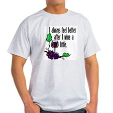 I Whine & Wine Ash Grey T-Shirt