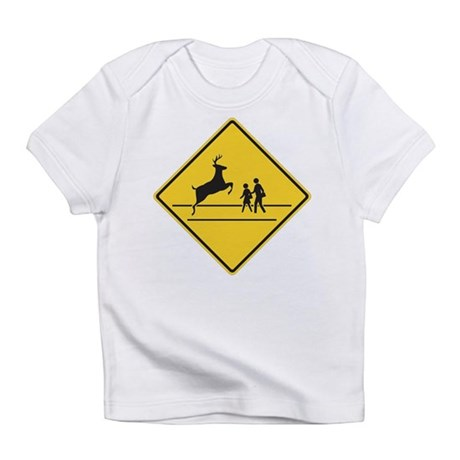 School & Deer Crossing Infant T-Shirt