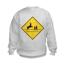 School & Deer Crossing Sweatshirt
