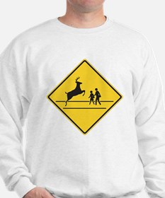 School & Deer Crossing Sweatshirt