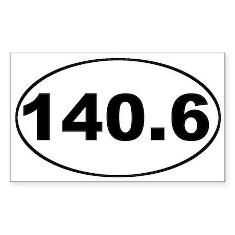 140.6 Ironman Oval Sticker