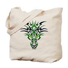 Two Toned Green Dragon Tote Bag
