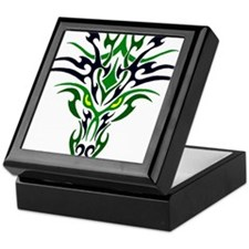 Two Toned Green Dragon Keepsake Box
