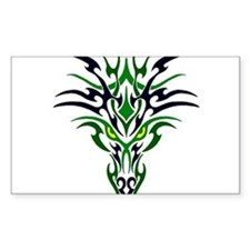 Two Toned Green Dragon Decal