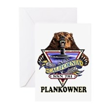 PLANKOWNER SSN 781 Greeting Cards (Pk of 10)