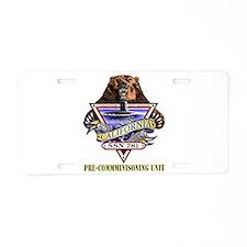 SSN 781 PCU Aluminum License Plate