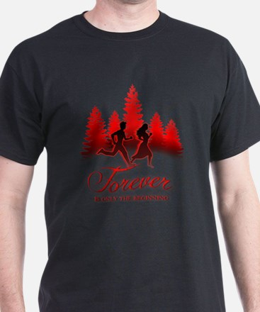 Bella_Edward_Run_Forever_Black_DATE.png T-Shirt