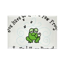 Kiss A Few Frogs Rectangle Magnet