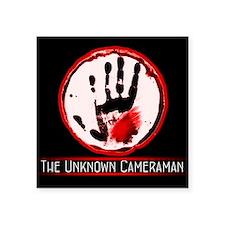 """The Unknown Cameraman Square Sticker 3"""" x 3"""