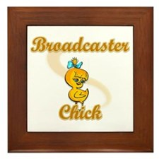 Broadcaster Chick #2 Framed Tile