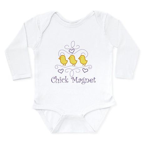 Chick Magnet Long Sleeve Infant Bodysuit