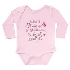 Future Budget Analyst Long Sleeve Infant Bodysuit