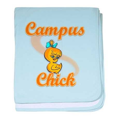 Campus Chick #2 baby blanket