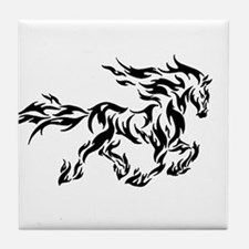 Tribal flame horse Tile Coaster