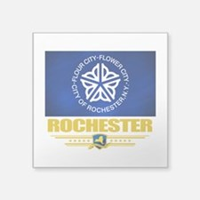 "Rochester (Flag 10).png Square Sticker 3"" x 3"""
