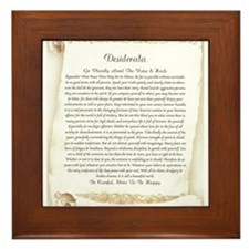 The Desiderata Poem by Max Ehrmann Framed Tile
